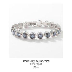 Touchstone Crystal by Swarovski Grey Ice Bracelet